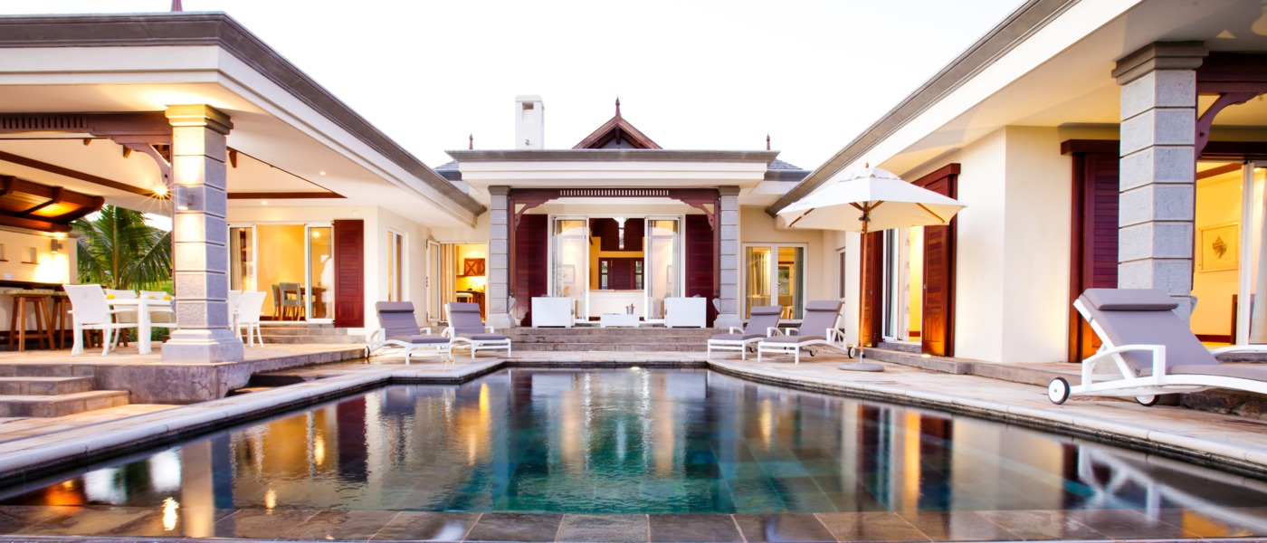 Luxury villas and homes in bel ombre mauritius for Classic home villa home collection